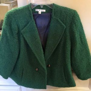 Green double breasted cabi jacket 10